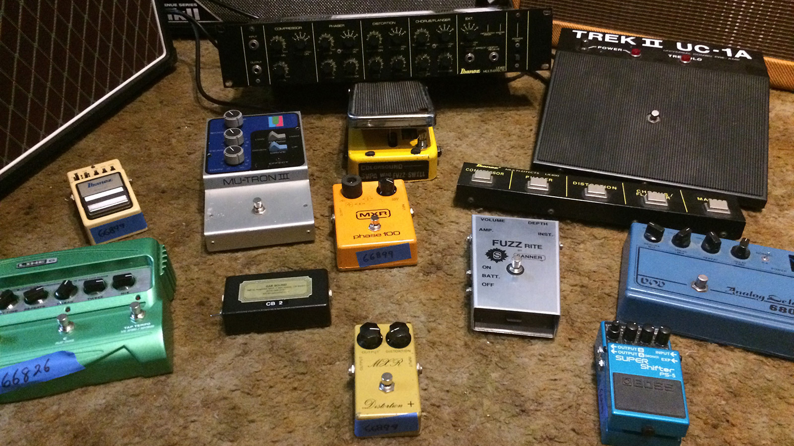 Assorted Effects Pedals